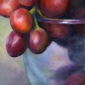 "Cluster : small still life oil painting 6"" x 6"" 