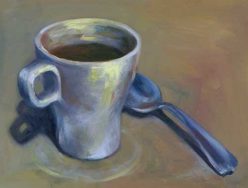 Morning Stir : oil : 9x12""