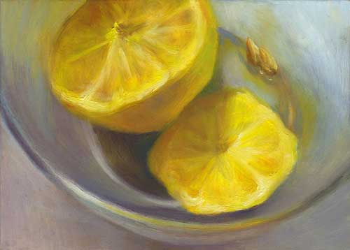Refresh - oil painting still life 5x7""
