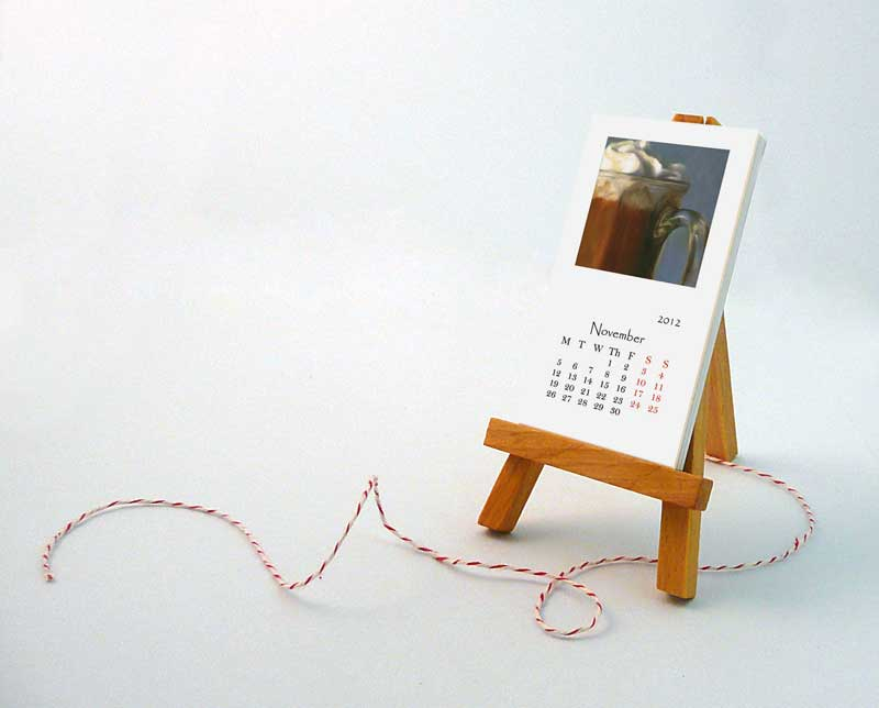 2012 desk calendar with mini easel