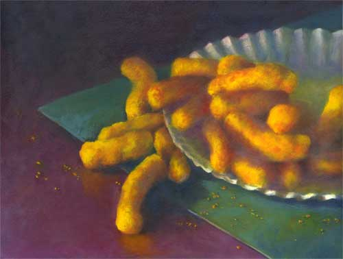 Cheez Louise, oil 14x18""