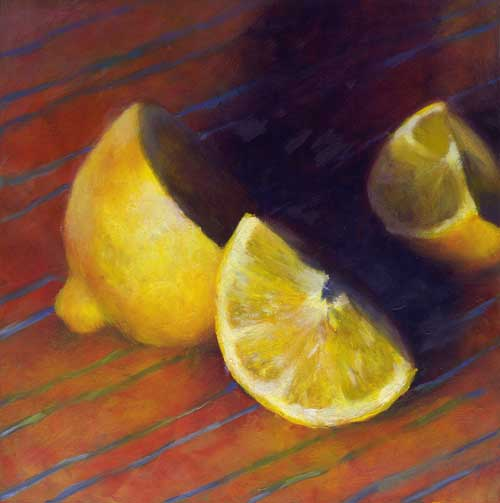Lemon Wedge : oil | 8x8"