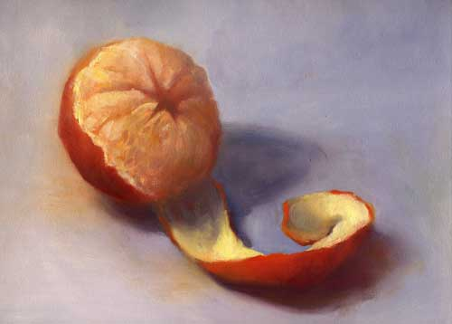 Tangerine Twist - oil painting still life  |  SOLD