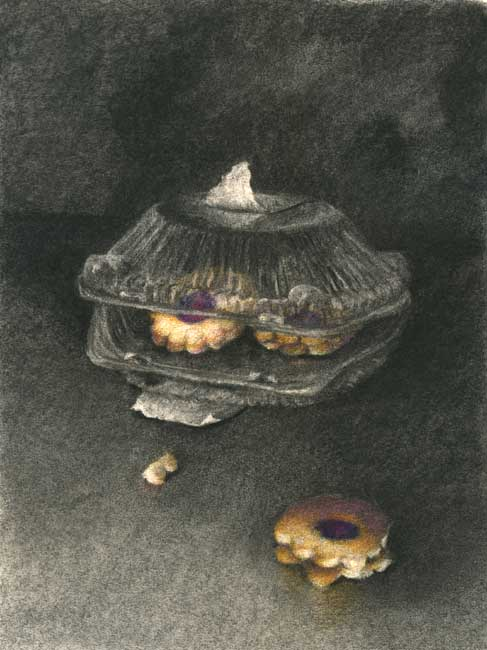 Making and Effort : charcoal and pastel still life drawing
