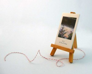 miniature art calendar with easel