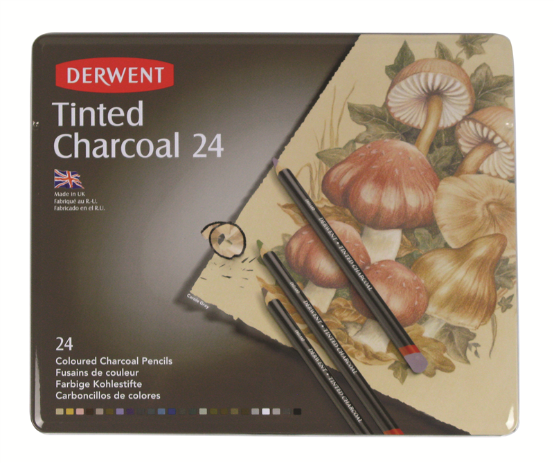 Derwent Tinted Charcoal Pencils