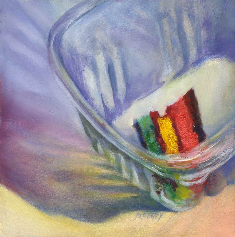 Saving the Last Rainbow | oil | 5x5""