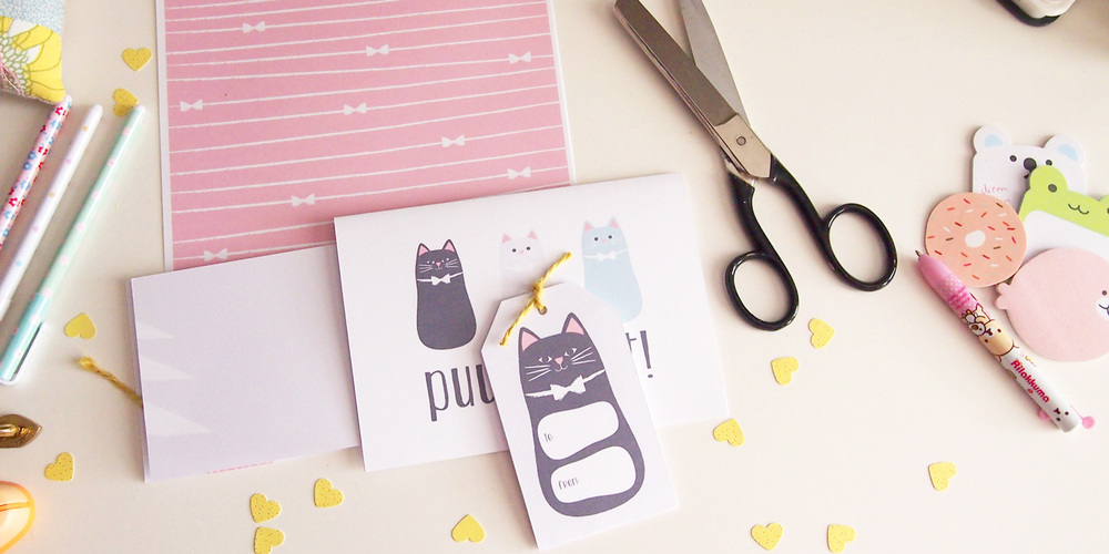 Puuurfect Cat Themed Stationery