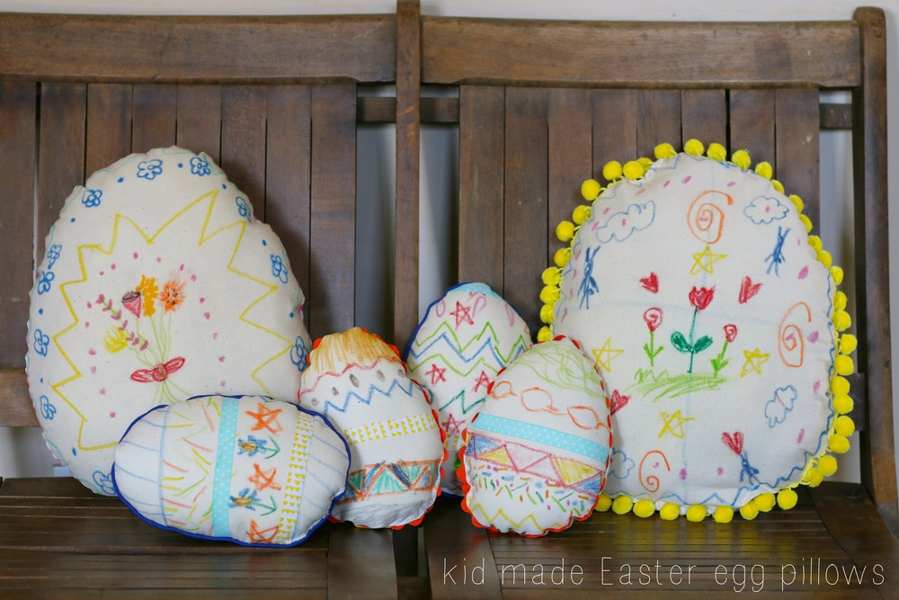 Kids Create Easter Egg Pillows Petit A Petit Family
