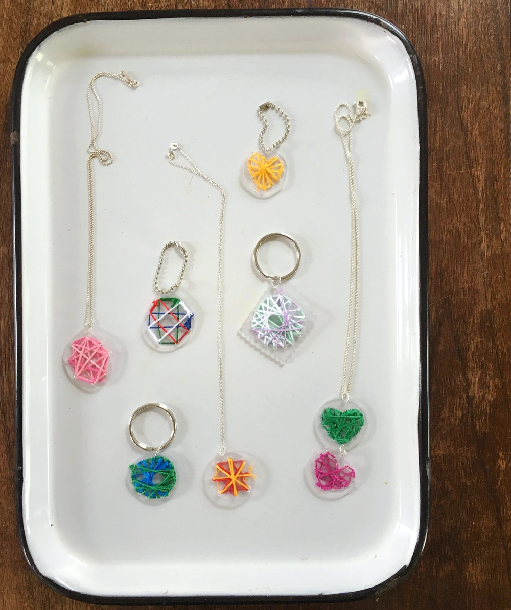 String ART Jewelry and Key Chains