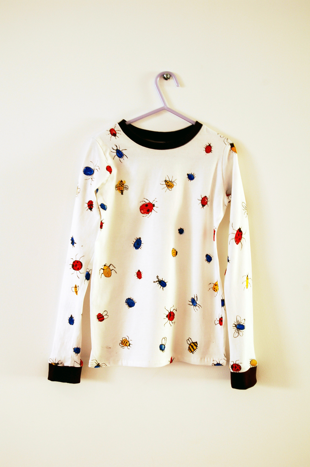 insect print pyjama top