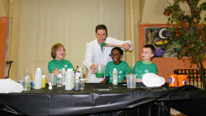 STudents have fun while learning about science