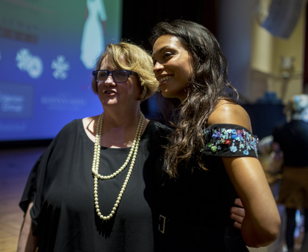 NYWIFT Executive Director Terry Lawler with Rosario Dawson