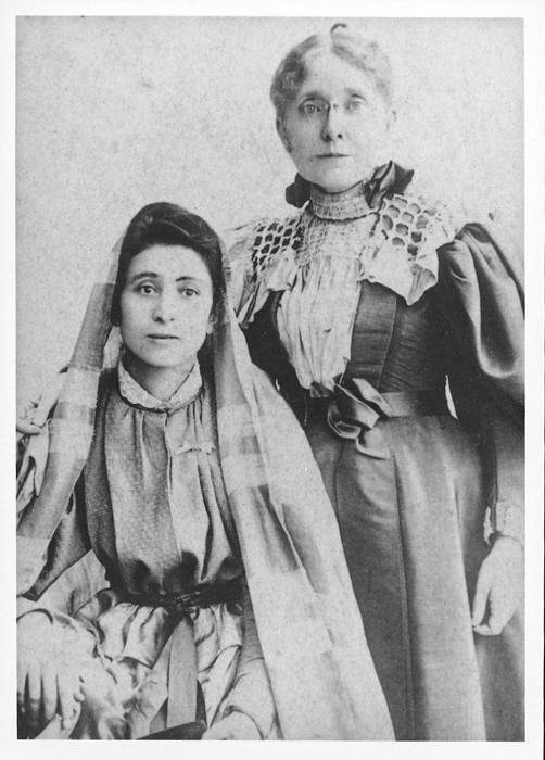 Historic Image of Rebecca Krikorian and Frances Elizabeth Willard.   A Woman's Place is in the Revolution (See first image in this post)  Willard and her mother Mary were incredibly close and lived together in Rest Cottage until the end of Mary's life.  Mary was Frances' earliest teacher and although Mary took classes at Oberlin College in Ohio, she did not complete a college degree.  It is likely that Frances was inspired to pursue a life outside of domesticity after witnessing her mother's life under the yoke of it.  Willard attended North Western College for Ladies and later briefly became the dean of the Women's College of Northwestern.  After resigning from this post she focused her energies on the WCTU which she became President of in 1879 and remained so until her death in 1898.  Using the WCTU platform to advocate for social change she averaged 400 lectures a year to audiences around the world. This image imagines that there are so many women of the past and present whose mother's inspire their journey to pursue a life of greater impact.  In Mary's bedroom a woman embodying the spirit of the potential before her takes the possibility of a mother's regrets and looks out toward a world of actions, imagines the possibilities of revolution, imagines how she might contribute to the world and what changes she might make to improve the lives of those to come.  During the women march of 2017 I captured many images of women inspired to work toward change today, to fight with a dogged commitment for what they believe in.  The A Woman's Place is in the Revolution image in the window frame is one of them, turned diaphanous to transcend time.