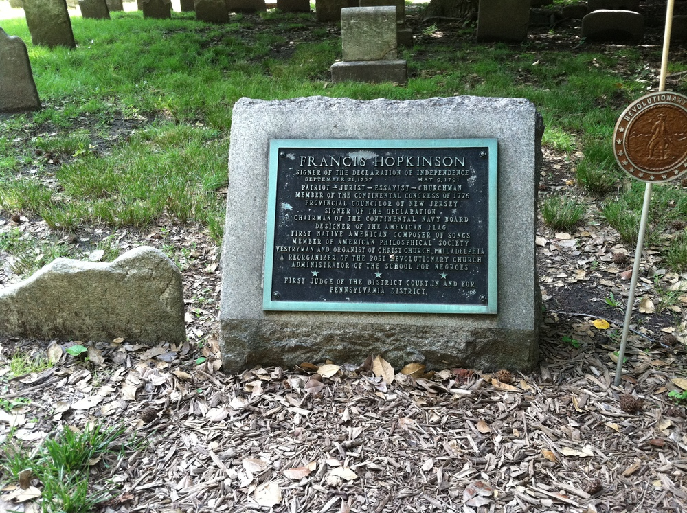 Francis Hopkinson's grave site at Christ Church Burial Ground, Philadelphia, PA.