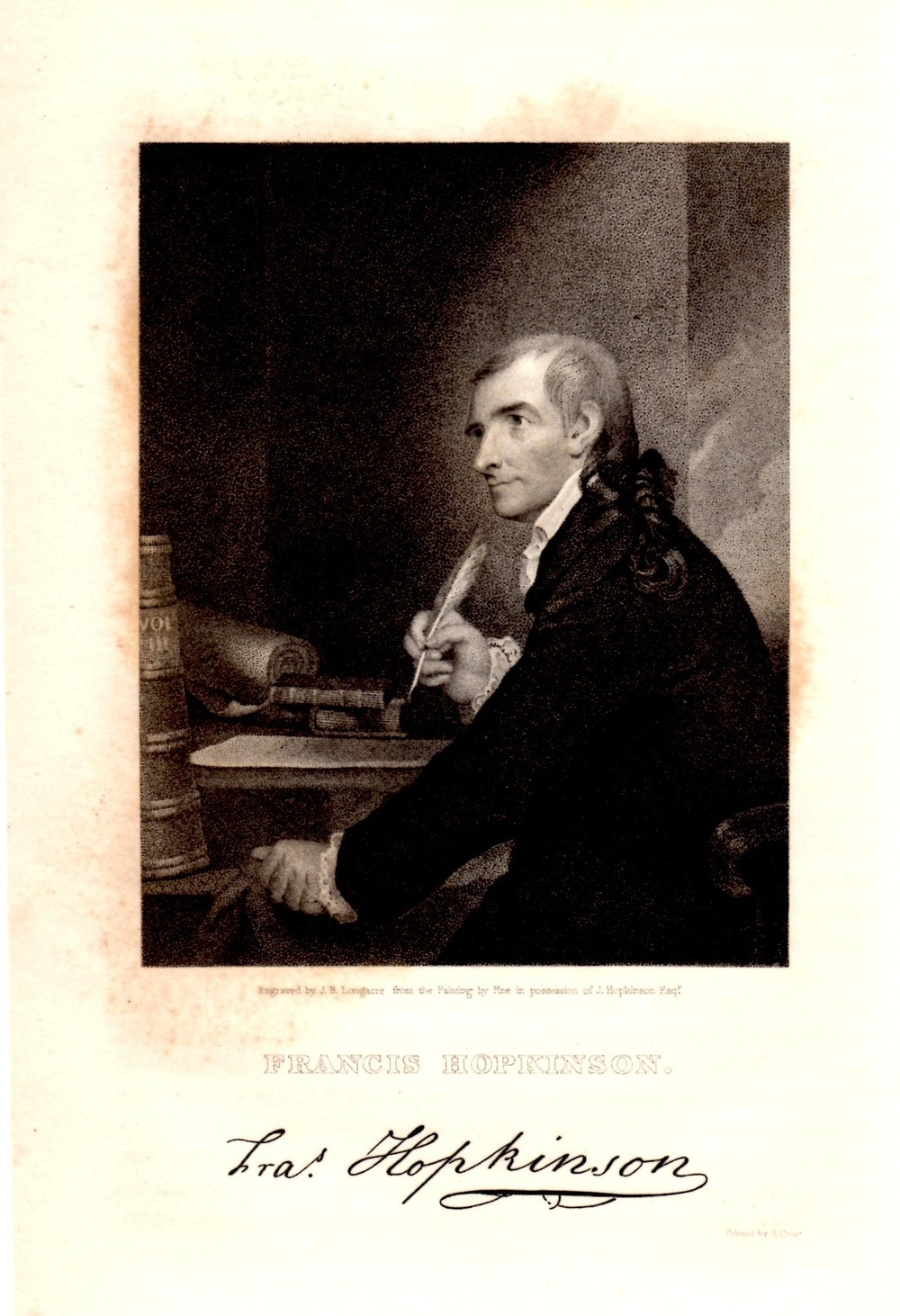 Hopkinson engraving portrait