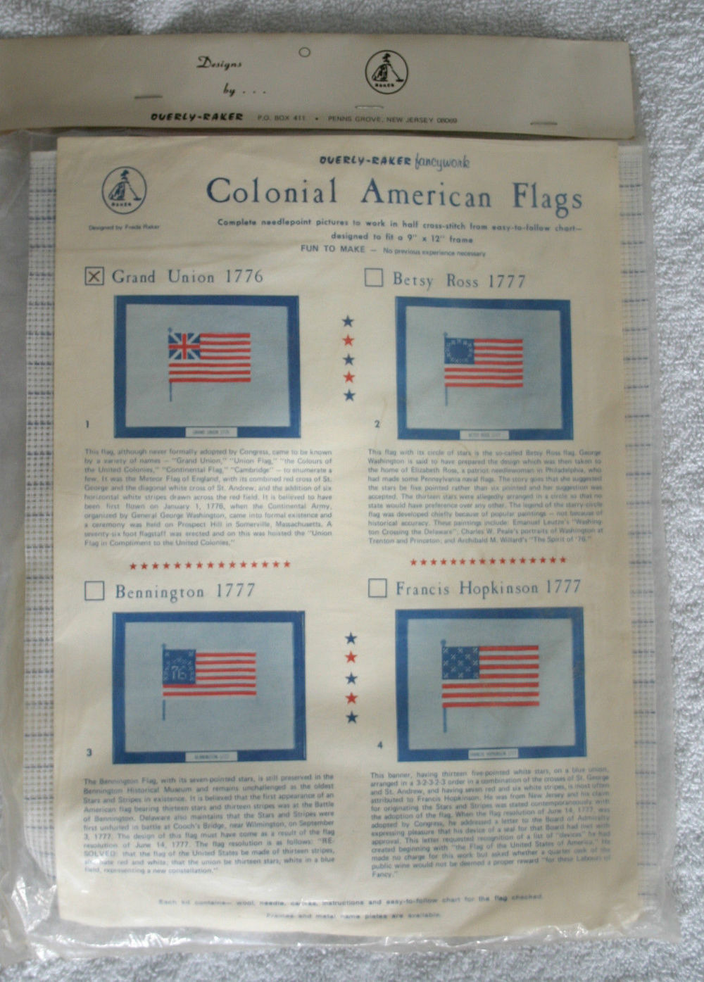 Flag Needlepoint Kit