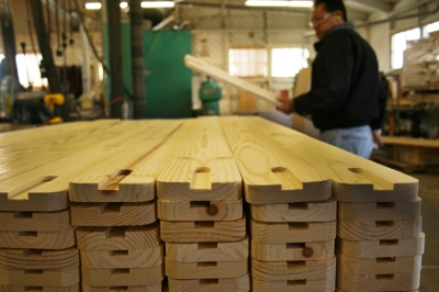 In the mill, grooves are cut into these uprights and the corners are rounded.