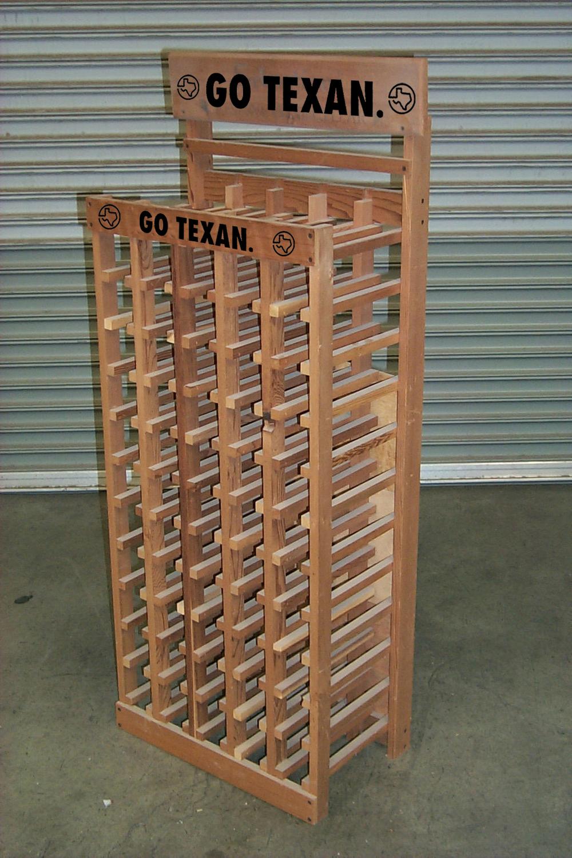 5 case ladder rack in unfinished pine.