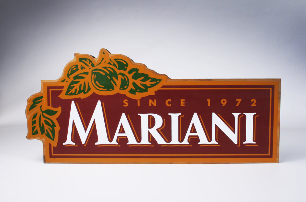 Mariani Graphic Sign Block. Pine.