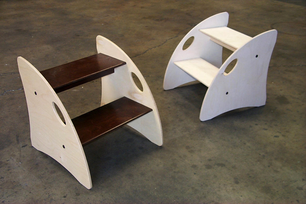 Sketchers Shoe Fitting Step Stools.  Birch Plywood.