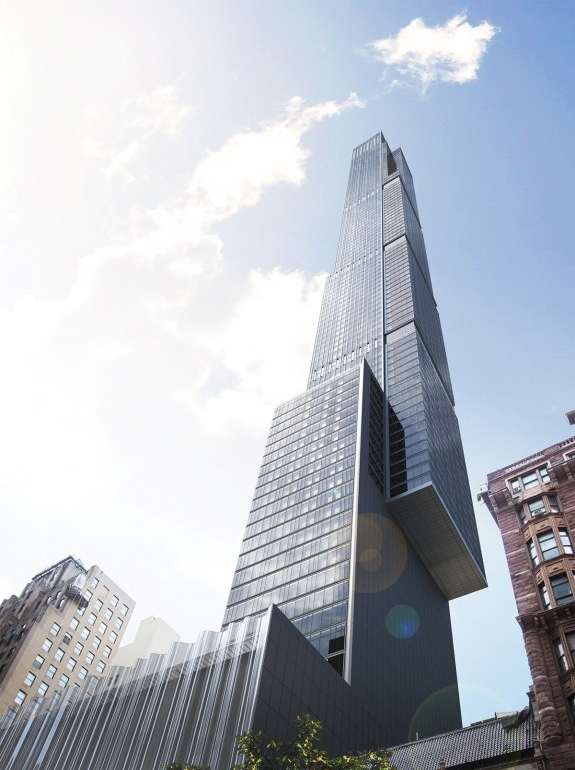 Currently under construction, when completed Central Park Tower at 225 West 57th Street will be the second-tallest skyscraper in the country.