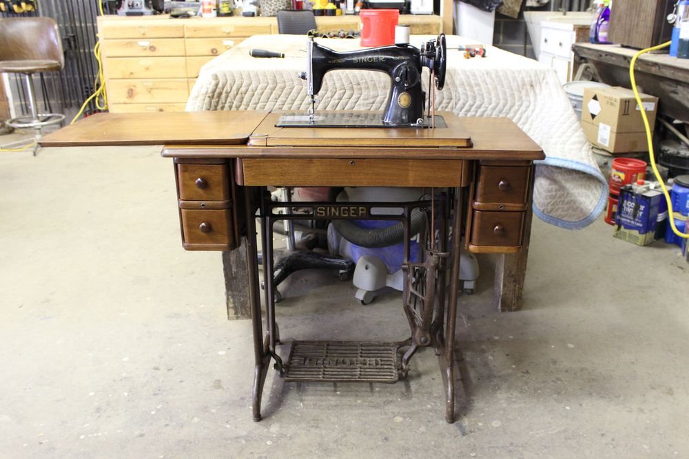 Newly restored antique Singer sewing machine
