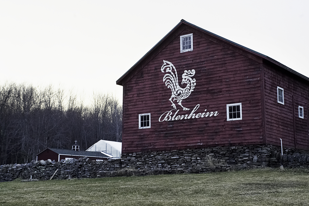 The historic property of Blenheim Hill Farm, including this barn, were restored by owners Min and Morten.