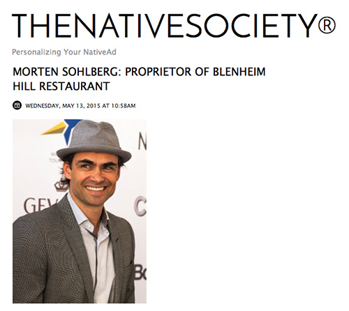 The Native Society chats with proprietor Morten Sohlberg