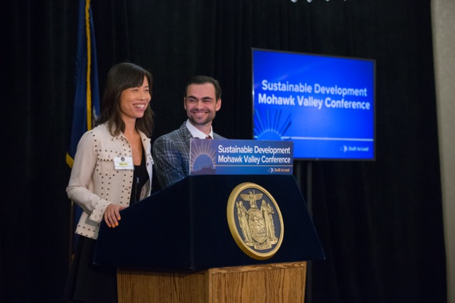 Blenheim owners Morten Sohlberg & Min Ye delivered the Keynote Speech at Governor Cuomo's Sustainability conference upstate New York.