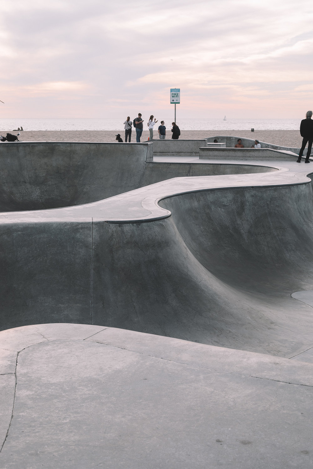Venice Beach Skate Park / Skateboard Photography / Abstract Architecture / Kelly Fiance Creative