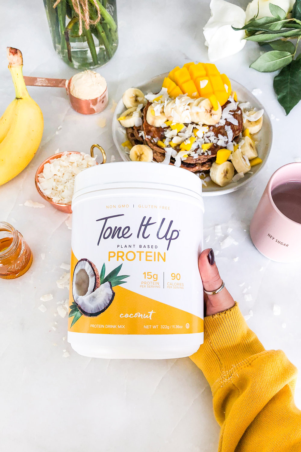 Product Photography / Tone It Up Protein / Healthy Recipes / Food Styling / Kelly Fiance Creative