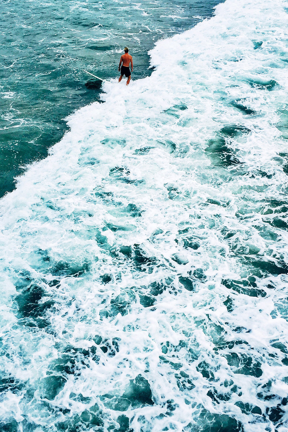 Ocean Waves / Nature Photography / Surfer / Tropical Summer Sea / Kelly Fiance Creative