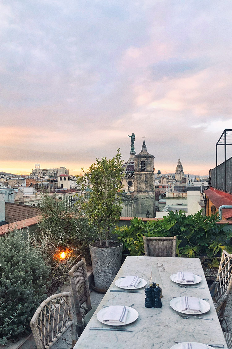 Barcelona Spain / Rooftop Sunset Dinner / Soho House / Travel Wanderlust / Kelly Fiance Creative