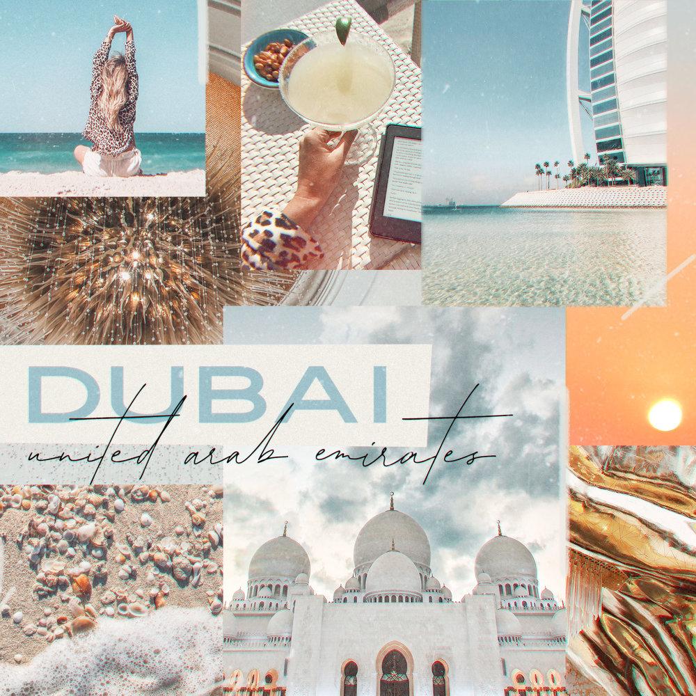 Dubai Travel Blog Photography Collage