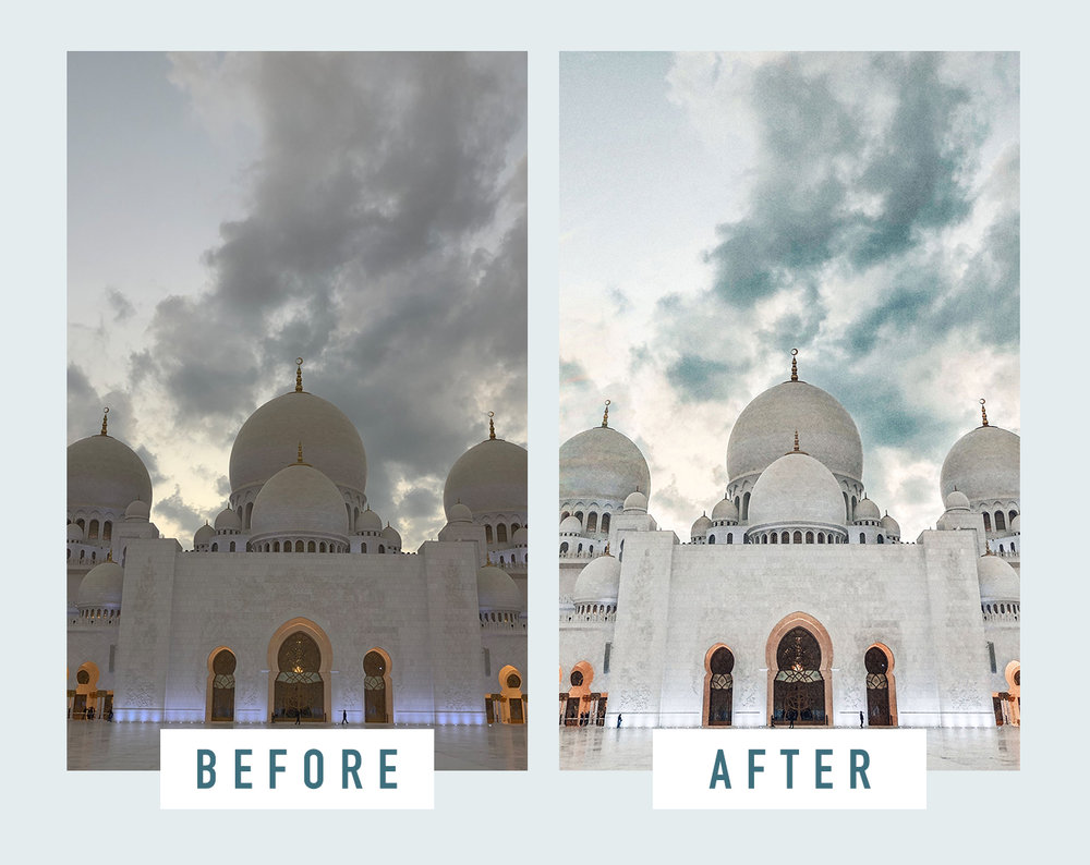 Travel Photo Editing Before and After