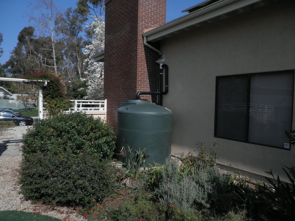 A very quick and easy finished rainwater installation.
