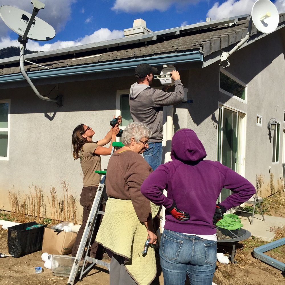 Class installing rainwater filters