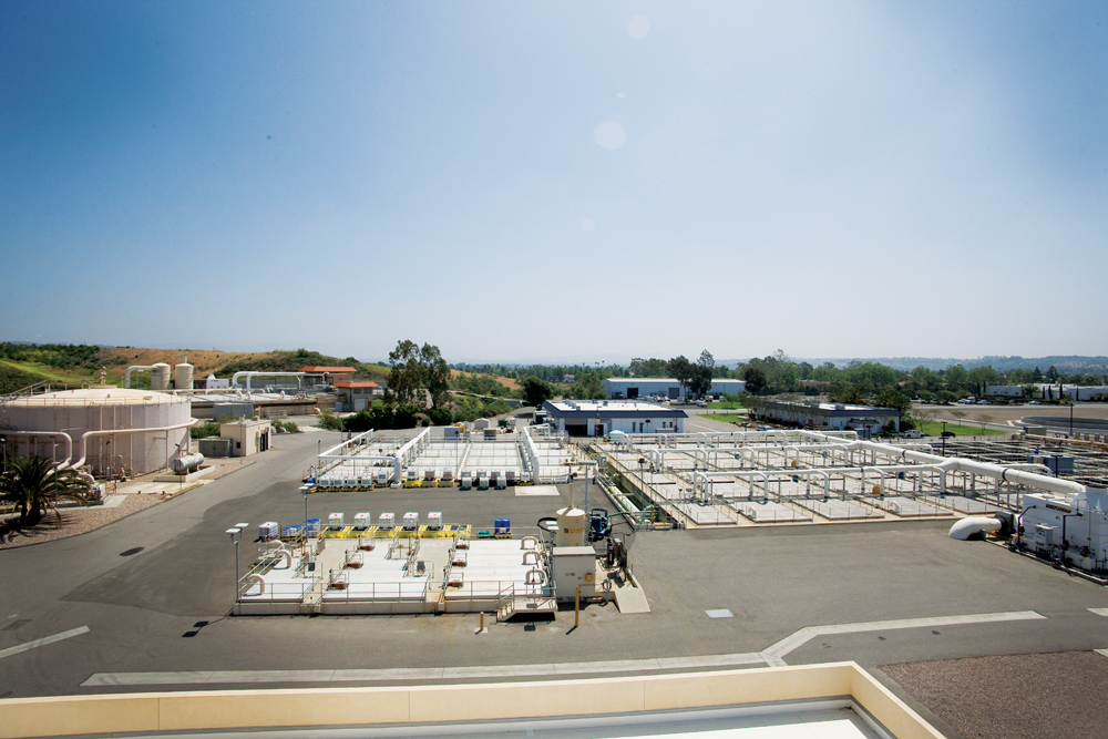 The San Luis Rey Water Treatement Facility treats 9.3 million gallons of wastewater daily.