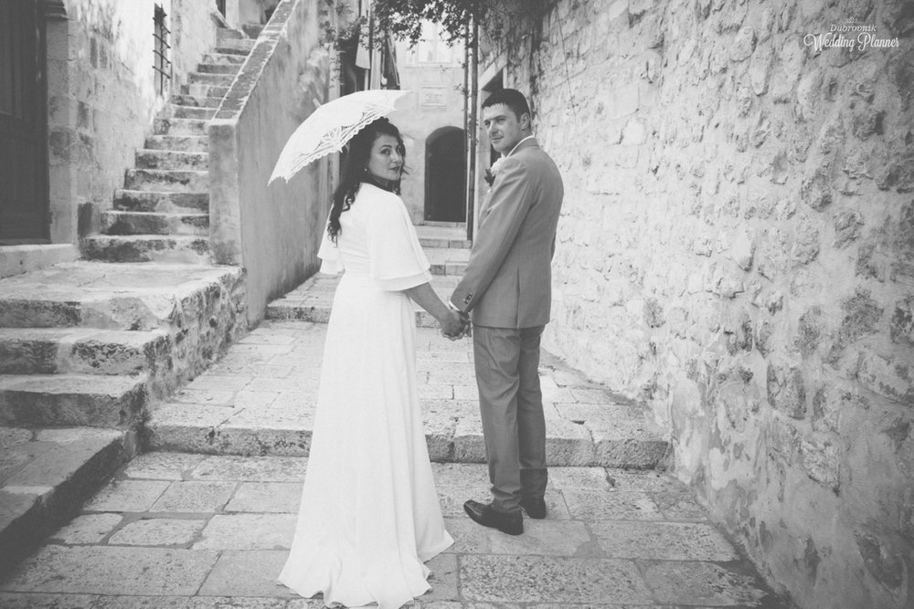 Miriam & Micheal - Beautiful open air wedding with the most amazing view followed by dinner reception in a family owned restaurant in the hearth of Old City of Dubrovnik.August 2017