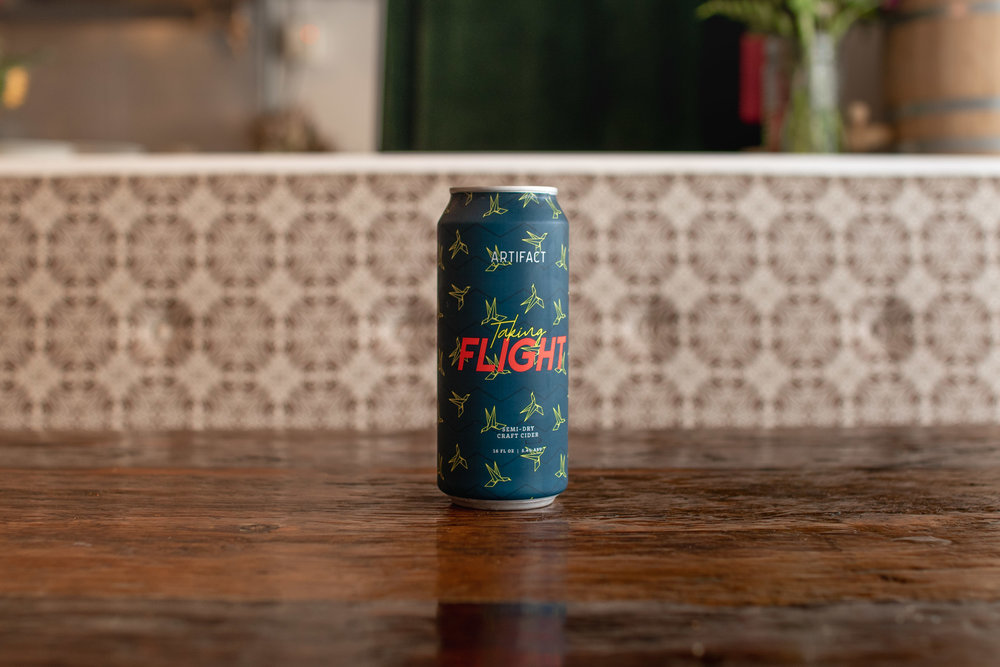 Artifact Cider's Taking Flight // photo by Stephanie Cornell
