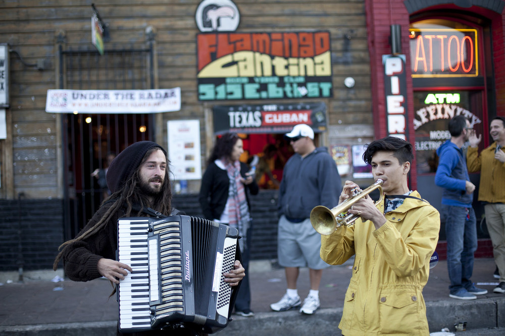 Street musicians from SXSW 2014 for NPR Music.