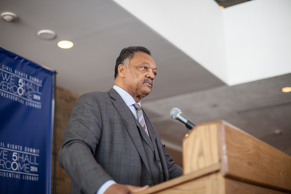 Reverend Jesse Jackson speaking at the Civil Rights Summit
