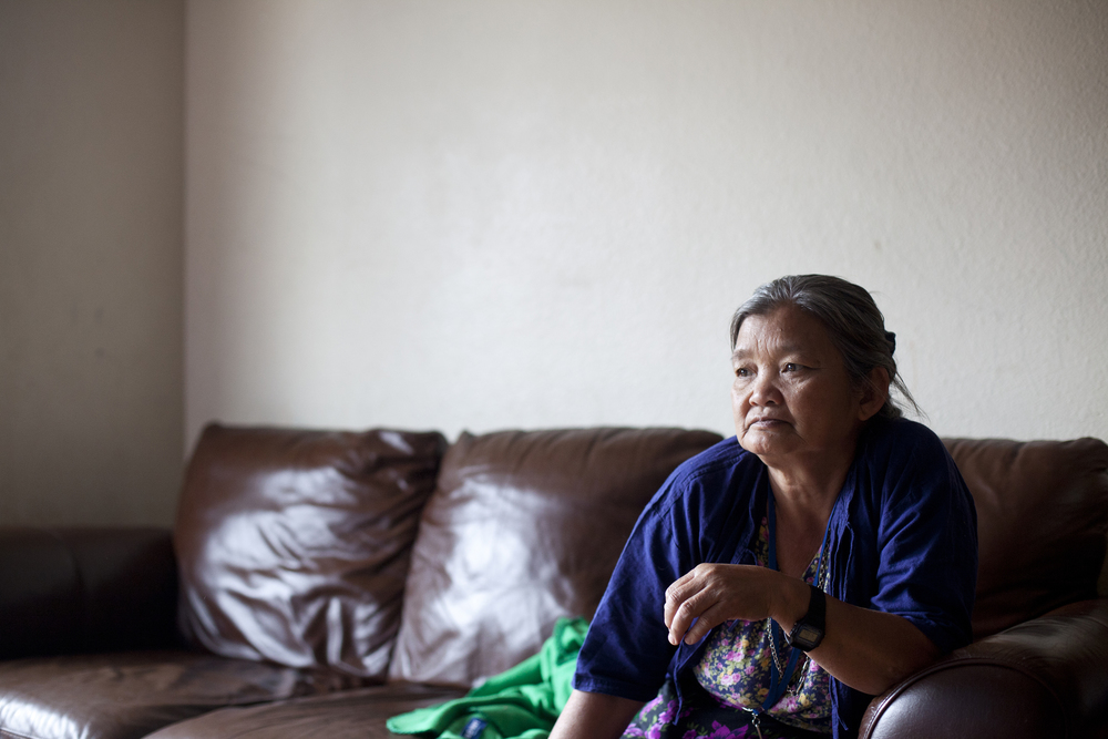 Grandma Htoo. Or Or's mother recently moved in with her family in Austin.