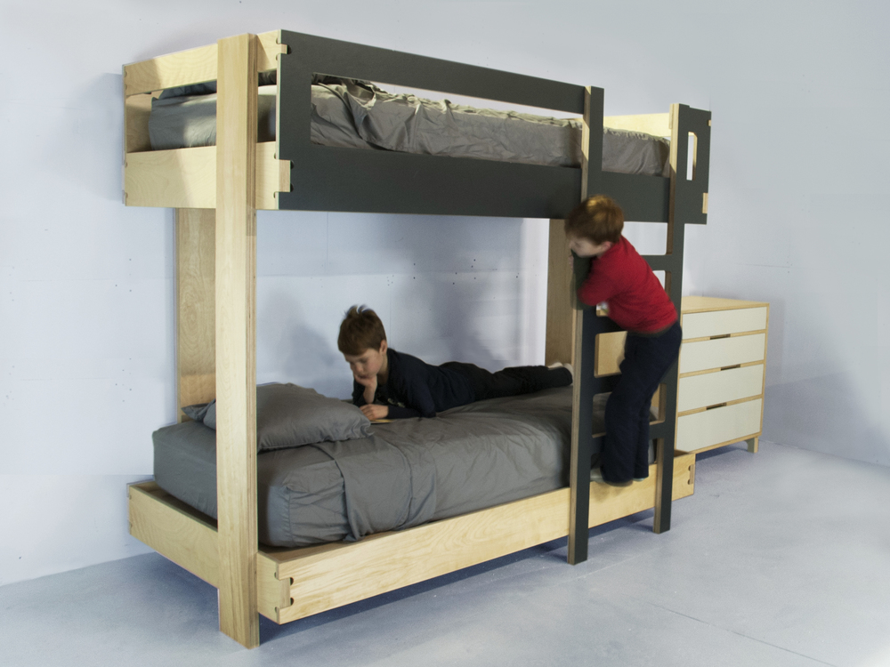 Modern baltic birch bunk bed