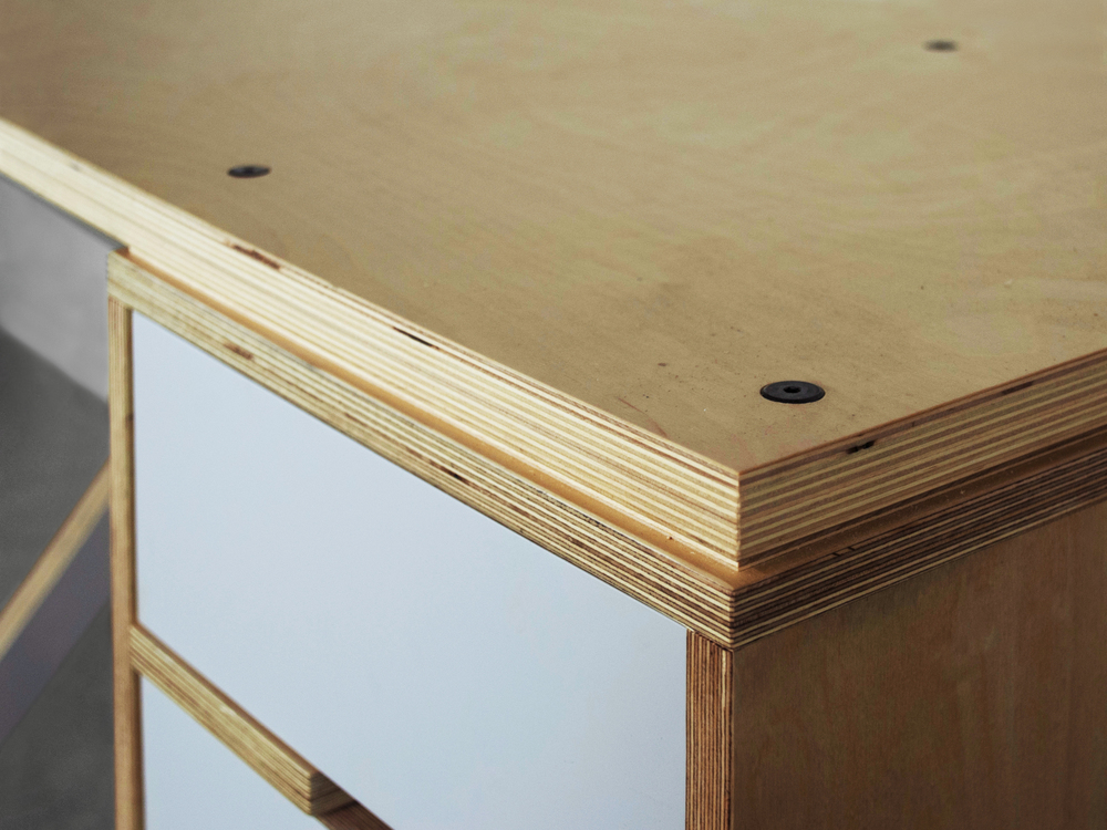 Modern baltic birch desk