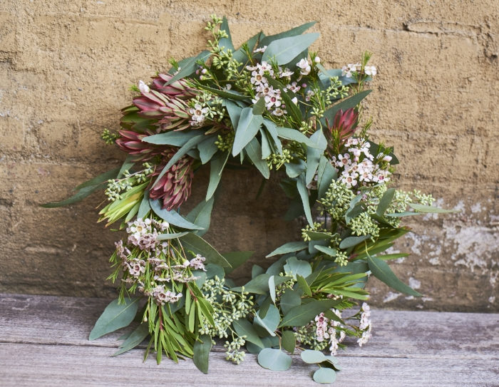 $75 Custom wreath with organic greens