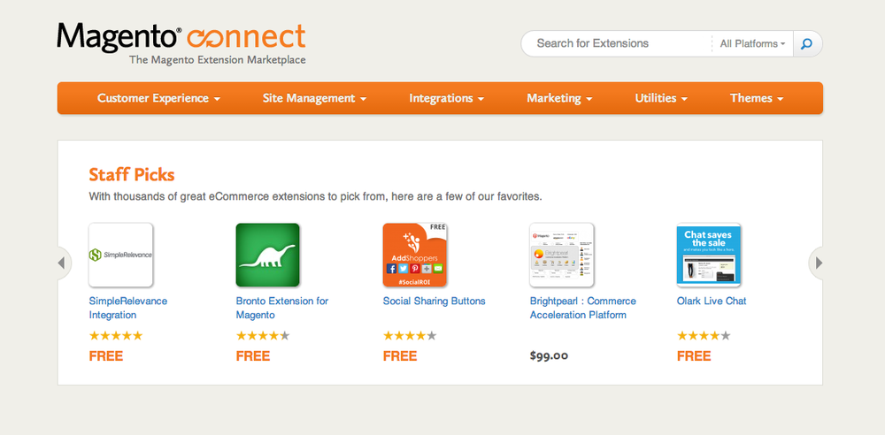 Magento Extension Staff Pick