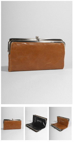hobo international lauren wallet vintage leather