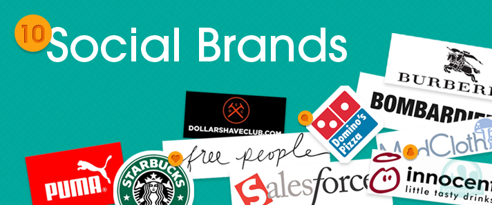 10 brands on social Media Networks